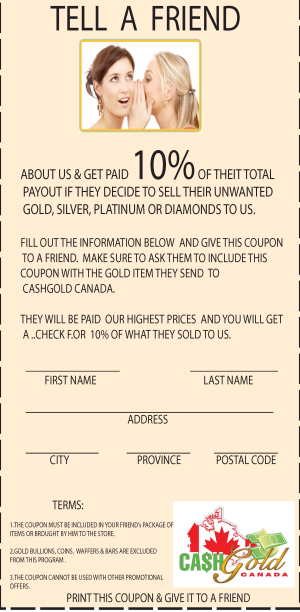 REFER A FRIEND & GET PAID 10%  *